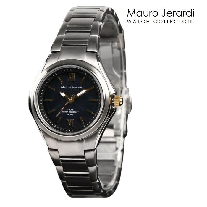 MAURO JERARDI マウロジェラルディ MJ-040-1 ソーラ レディス 腕時計 ウォッチ 時計 グレー色 金属ベルト 国内正規品 メーカー保証付 誕生日プレゼント 女性 ギフト ブランド おしゃれ 送料無料
