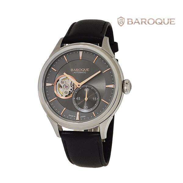 BAROQUE バロックGENTILE BA3002S-13B メカニカル 自動巻き メンズ 腕時計 ウォッチ 時計 シルバー色 レザーストラップ 国内正規品 メーカー保証付 誕生日プレゼント 男性 ギフト ブランド かっこいい もてる 送料無料
