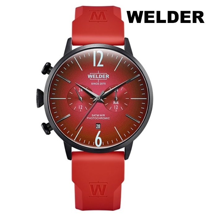 WELDER ウェルダー WWRC520 クオーツ メンズ 腕時計 ウォッチ 時計 ブラック色 ラバーストラップ 正規輸入品 メーカー保証付 誕生日プレゼント 男性 ギフト ブランド かっこいい もてる 送料無料