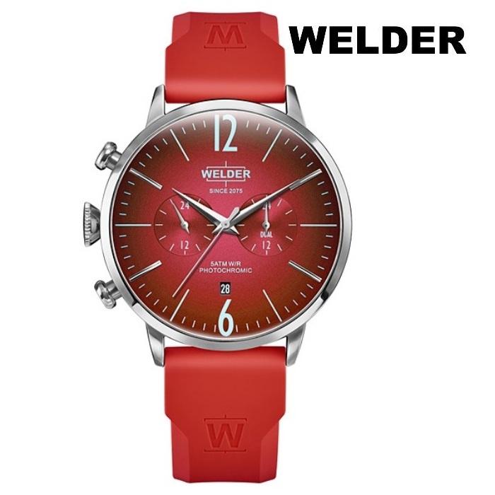 WELDER ウェルダー WWRC522 クオーツ メンズ 腕時計 ウォッチ 時計 シルバー色 ラバーストラップ 正規輸入品 メーカー保証付 誕生日プレゼント 男性 ギフト ブランド かっこいい もてる 送料無料