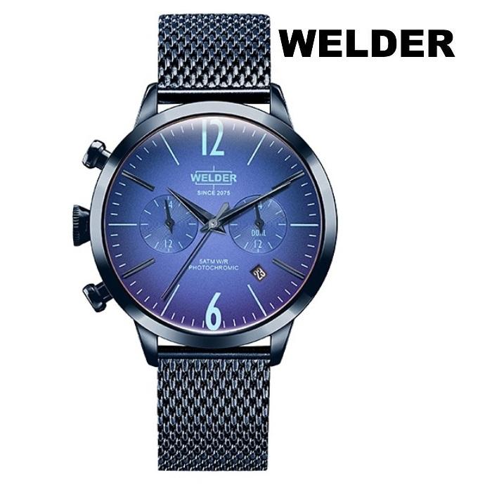 WELDER ウェルダー WWRC603 クオーツ ユニセックス 腕時計 ウォッチ 時計 ダークブルー色 メッシュベルト 正規輸入品 メーカー保証付 誕生日プレゼント 女性 ギフト ブランド おしゃれ 送料無料