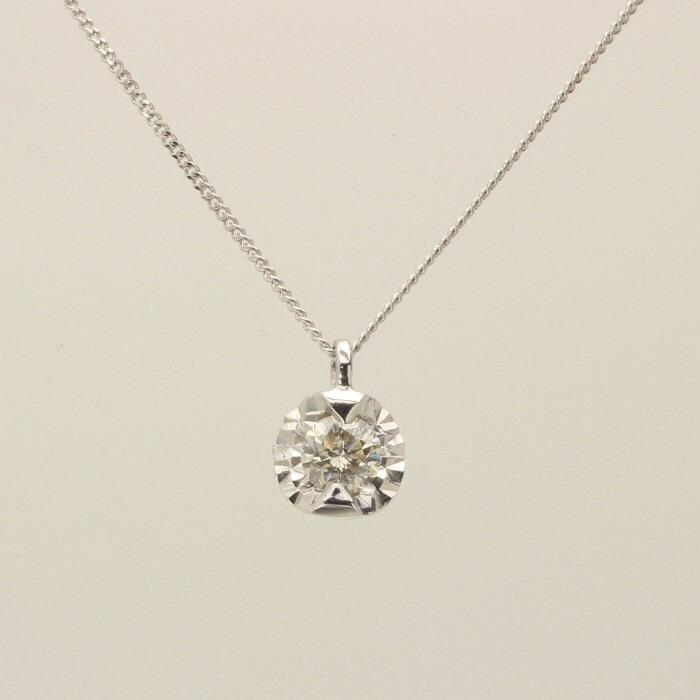 【kawasumi】 K10 WG ダイヤ プチネックレス 一粒ダイヤ ネックレス 記念日 誕生日 プレゼント お値打ち お出かけ ジュエリー 川スミ 送料無料