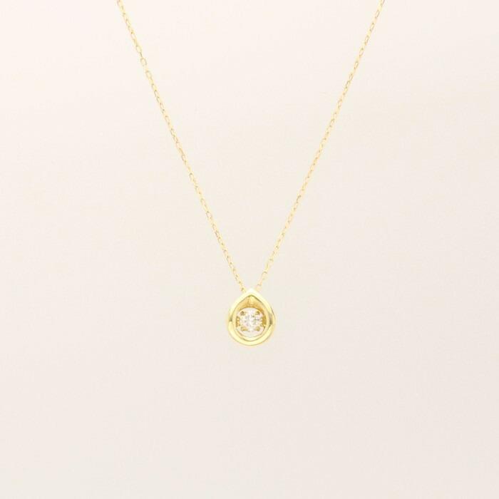 【kawasumi】 K18 YG ダイヤ プチネックレス ゴールドネックレス ダイヤモンド ペンダント ネックレス ダイヤペンダント クロスフォーダイヤモンド 誕生日 記念日 プレゼント ギフト お手頃 お値打ち お出かけ ジュエリー 川スミ 送料無料