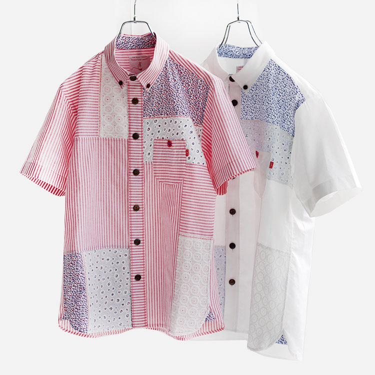 河谷シャツ Quartet (カルテット) カジュアルシャツ 半袖 シャツ / ユニセックス メンズ レディース / k1821201