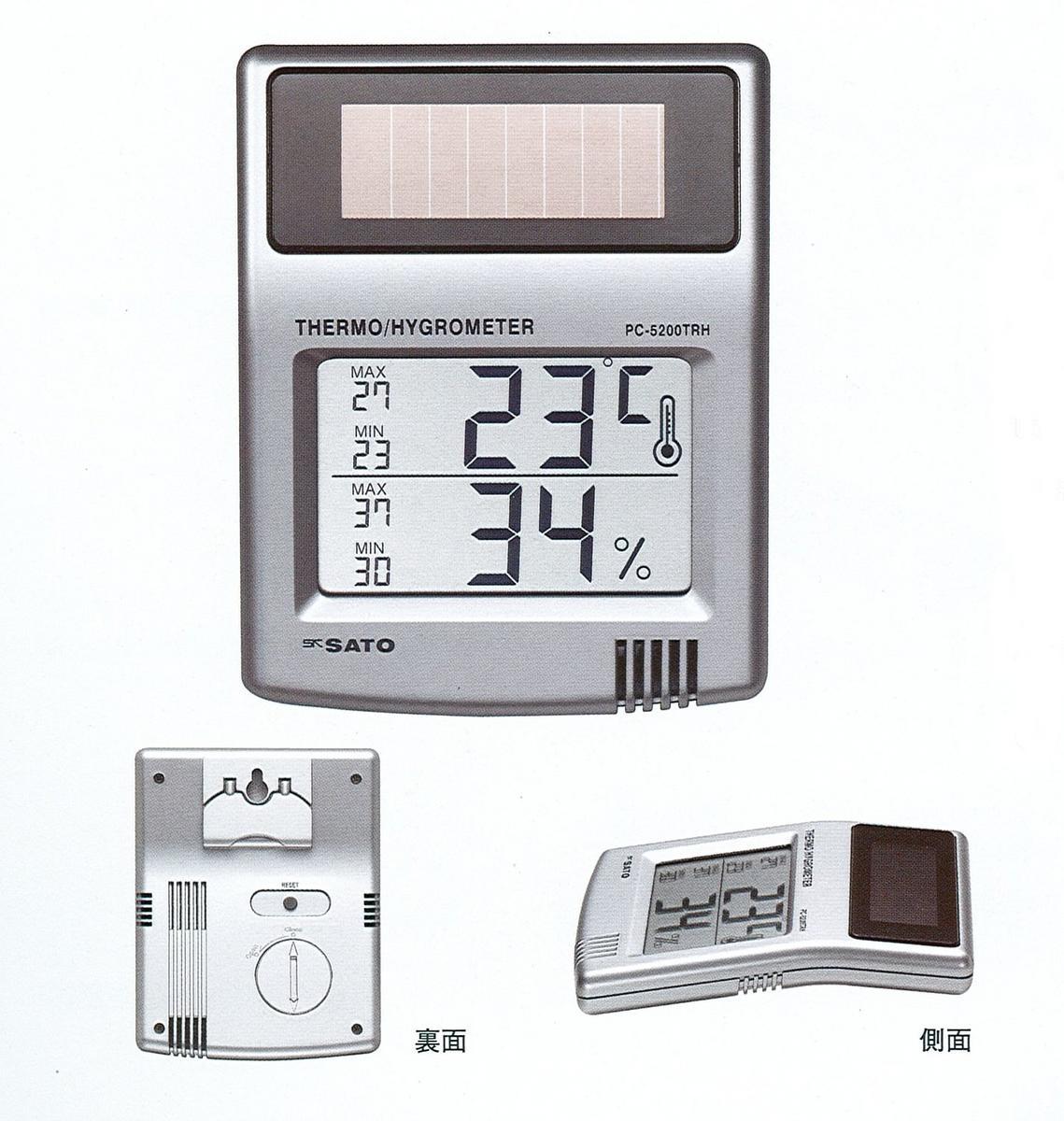 ソーラー デジタル温湿度計 最安値 新製品 毎日続々入荷 PC-5200TRH