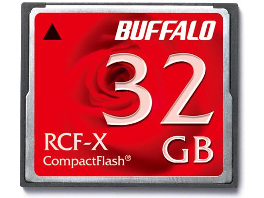 全商品配送無料 平日13時までの決済完了分は即日出荷 メール便は追跡番号付きで安心 商品 配達スピードも速くなりました 半額 32GB コンパクトフラッシュ CFカード RCF-Xシリーズ BUFFALO 低消費電力仕様 RCF-X32G バッファロー メ