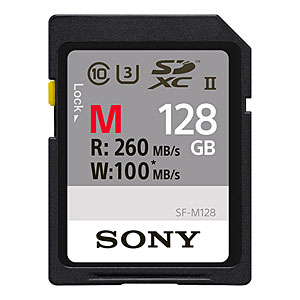 128GB SDXCカード SDカード SONY ソニー Extra Pro CLASS10 UHS-II U3 4K R:260MB/s W:100MB/s 海外リテール SF-M128/T ◆メ