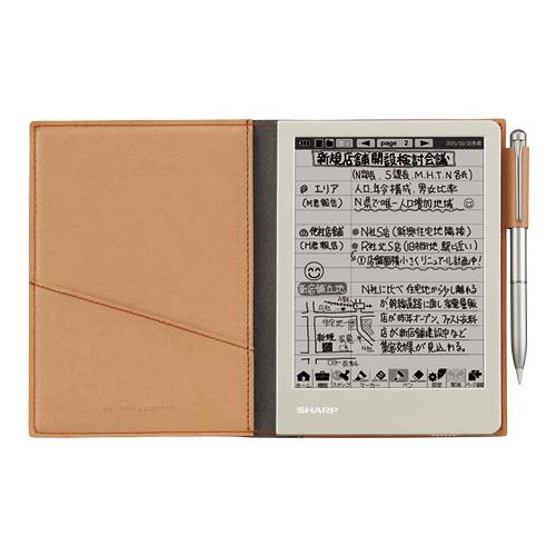 電子ノート SHARP シャープ スラスラ書く、どんどん残す。最大3000ページ分の手書きノートを保存 ブラウン系 WG-S30-T ◆宅