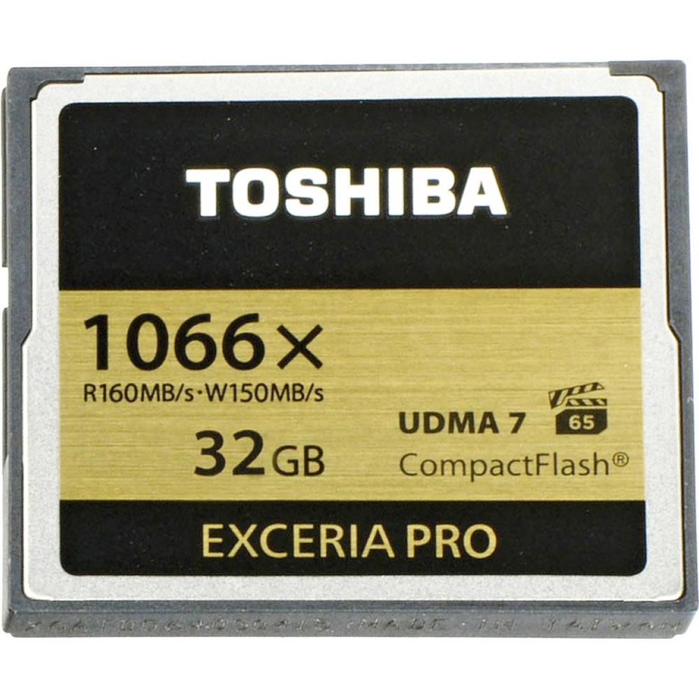 32GB CFカード コンパクトフラッシュ 1066倍速 TOSHIBA 東芝 EXCERIA PRO C501 R:160MB/s W:150MB/s UDMA7 VPG-65 海外リテール THN-C501G0320A6 ◆メ