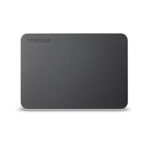 1TB ポータブルハードディスク USB3.0 TOSHIBA 東芝 CANVIO PREMIUM 金属筐体 Type-C変換アダプター同梱 1.0TB ダークグレーメタリック HD-MB10TY ◆宅