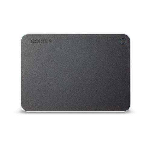 2TB ポータブルハードディスク USB3.0 TOSHIBA 東芝 CANVIO PREMIUM 金属筐体 Type-C変換アダプター同梱 2.0TB ダークグレーメタリック HD-MB20TY ◆宅