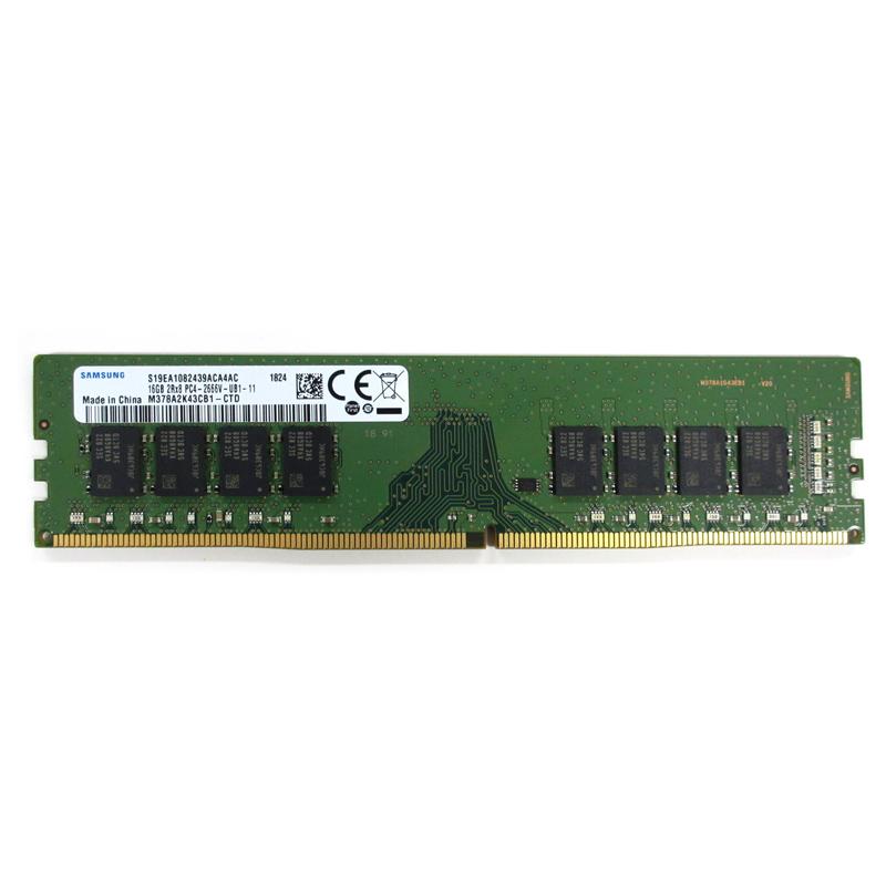 16GB Samsung サムスン純正 デスクトップPC用 DDR4-2666 PC4-21300 288Pin UDIMM non-ECC 1.2V バルク M378A2K43CB1-CTD ◆メ