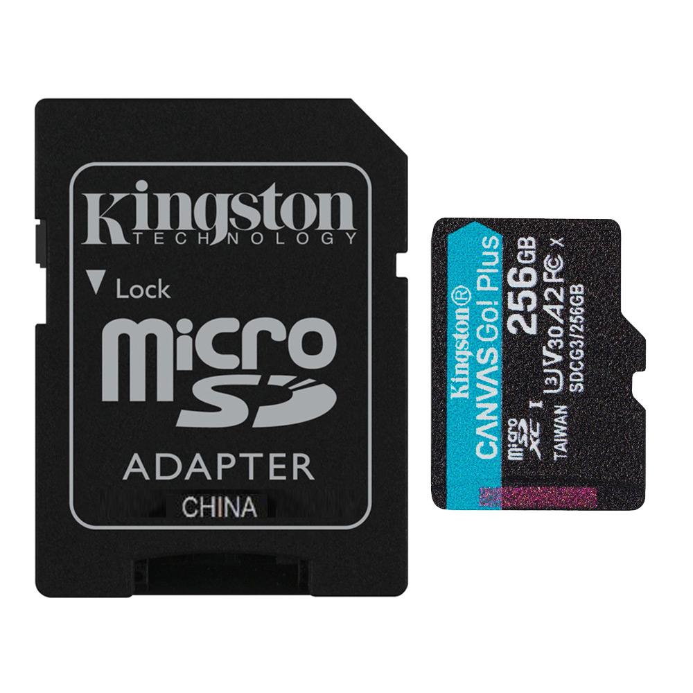 全商品配送無料 平日13時までの決済完了分は即日出荷 メール便は追跡番号付きで安心 配達スピードも速くなりました 256GB microSDXCカード マイクロSD Kingston キングストン Canvas Go 人気の定番 Plus A2 4K V30 UHS-I SDアダプター付 メ s W:90MB 海外リテール R:170MB U3 SDCG3 再入荷 予約販売