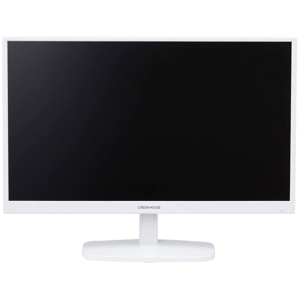 23.6型ワイド高視野角LED液晶ディスプレイ LCDモニター グリーンハウス VGA/DVI端子 フルHD対応 電源内蔵モデル ホワイト GH-LCW24E-WH ◆宅