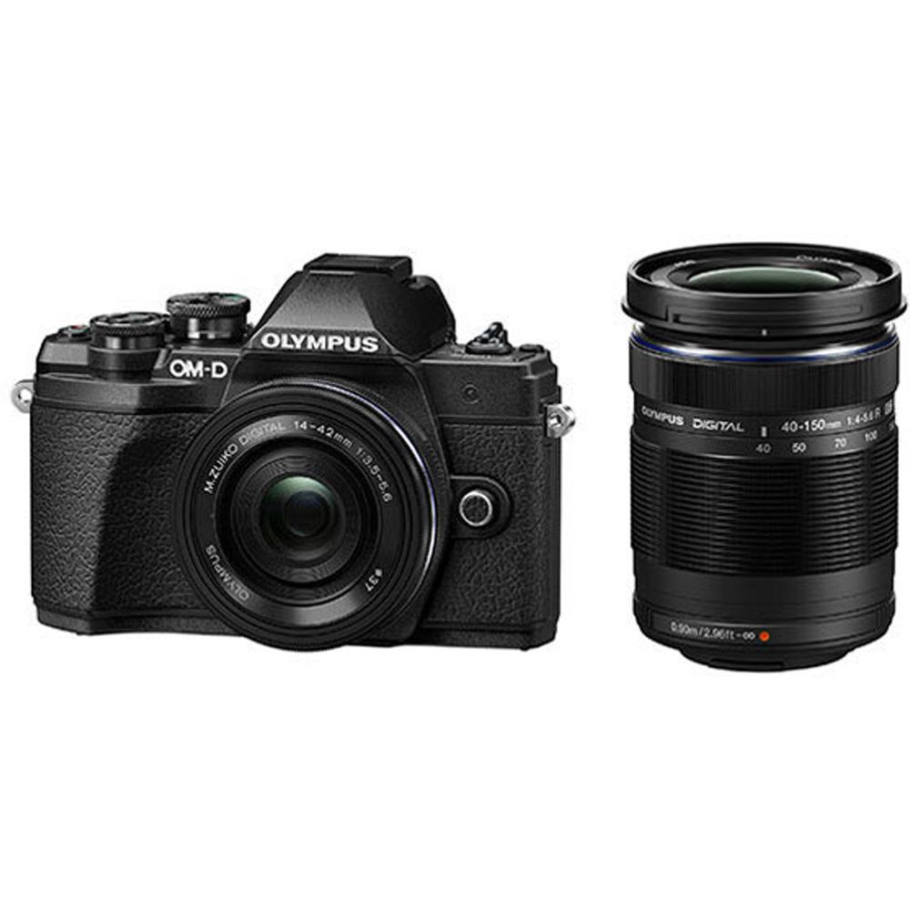 デジタルカメラ ミラーレス一眼 OM-D E-M10 Mark III EZダブルズームキット OLYMPUS オリンパス ブラック OMDEM10M3DZK-BLK ◆宅