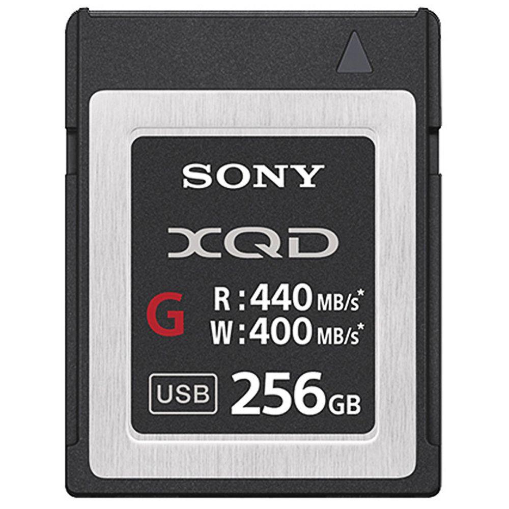 どれでも3点以上購入でポイント10倍(3/1のみ 要エントリー) 256GB XQDメモリーカード XQDカード SONY ソニー Gシリーズ R:440MB/s W:400MB/s 日本語パッケージ QD-G256E ◆宅