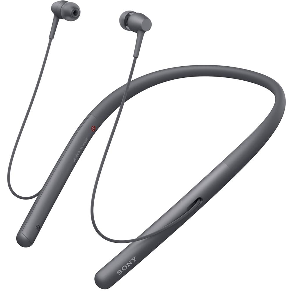 Bluetoothイヤホン ワイヤレスステレオヘッドセット ハイレゾ音源対応 SONY ソニー h.ear in 2 Wireless ネックバンド式 グレイッシュブラック WI-H700(B) ◆宅