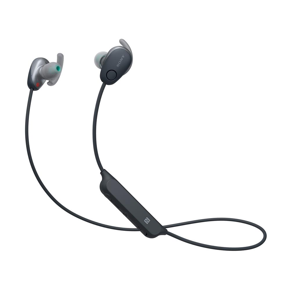 Bluetoothイヤホン ワイヤレスステレオヘッドセット SONY ソニー カナル型 防滴IPX4相当 ノイズキャンセリング機能 ブラック WI-SP600N(B) ◆宅