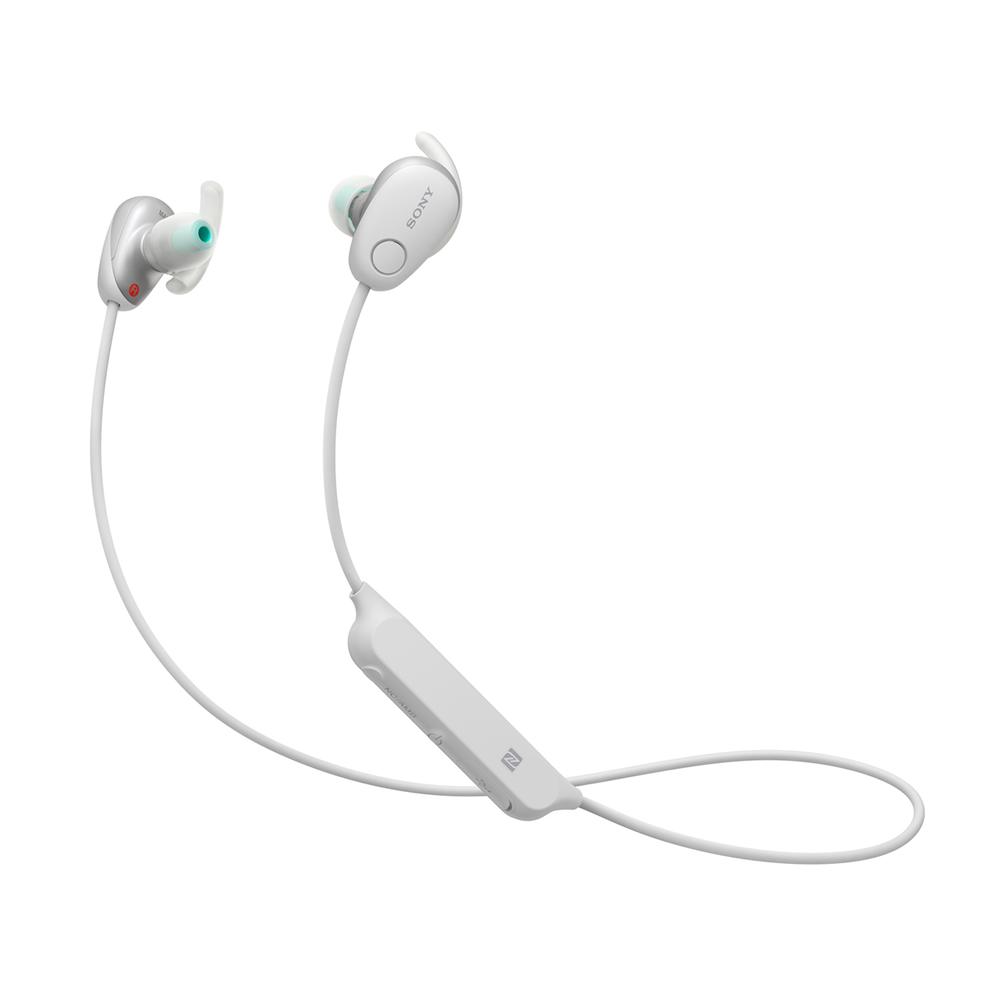 Bluetoothイヤホン ワイヤレスステレオヘッドセット SONY ソニー カナル型 防滴IPX4相当 ノイズキャンセリング機能 ホワイト WI-SP600N(W) ◆宅
