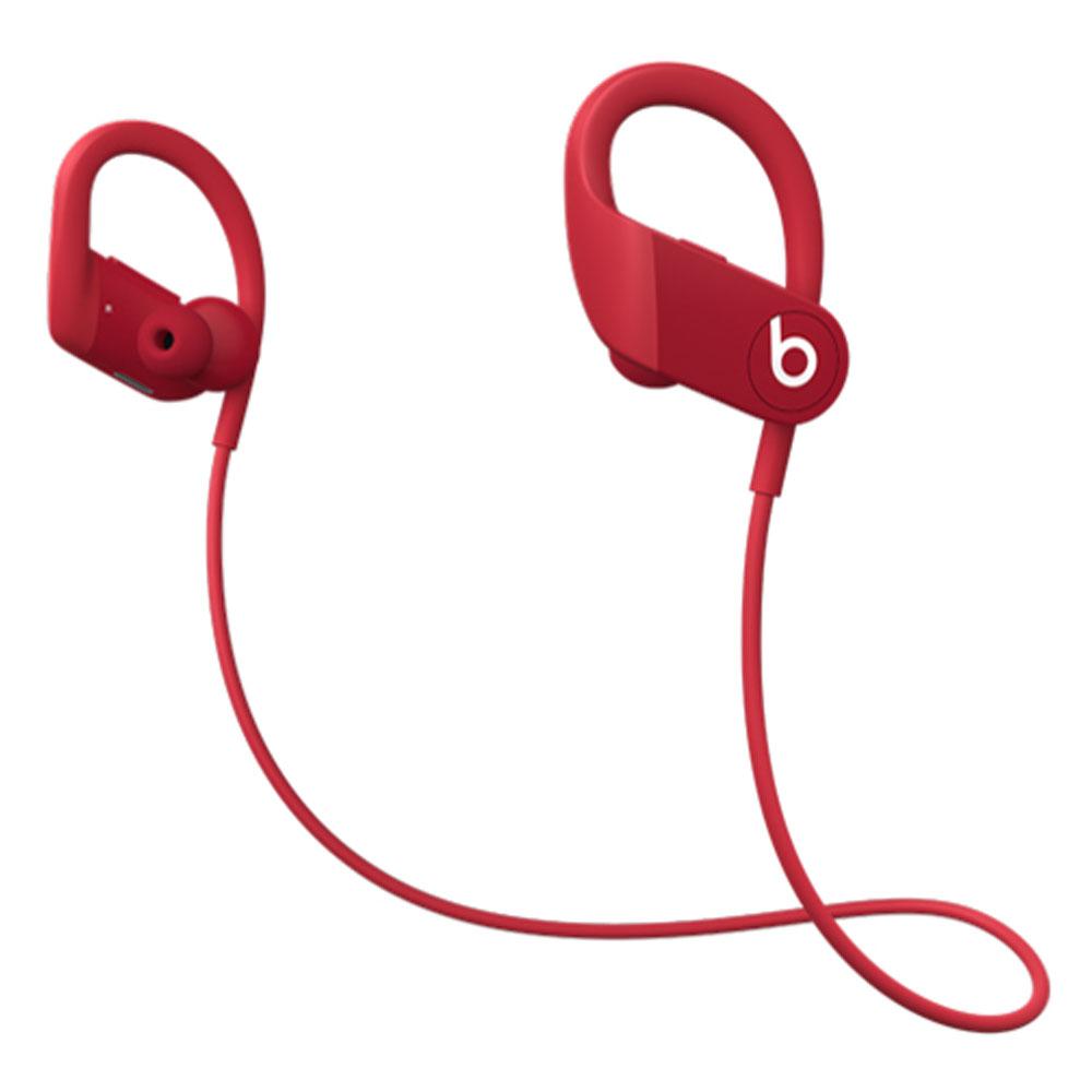 イヤーフック型ワイヤレスイヤフォン Powerbeats Beats by Dr.Dre iPhone・iPad用 耐汗/防沫機能 最長15時間再生 レッド MWNX2PA/A ◆宅