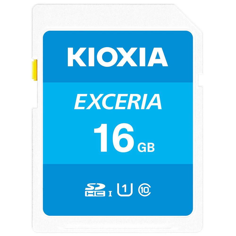 スーパーセール期間限定 全商品配送無料 平日13時までの決済完了分は即日出荷 超特価SALE開催 メール便は追跡番号付きで安心 配達スピードも速くなりました 16GB SDHCカード SDカード KIOXIA キオクシア R:100MB U1 s 海外リテール EXCERIA LNEX1L016GG4 メ Class10 UHS-I