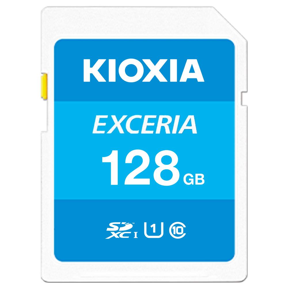 全商品配送無料 平日13時までの決済完了分は即日出荷 メール便は追跡番号付きで安心 新作 人気 配達スピードも速くなりました 128GB SDXCカード SDカード KIOXIA キオクシア オンラインショップ R:100MB U1 UHS-I LNEX1L128GC4 s EXCERIA メ 海外リテール Class10