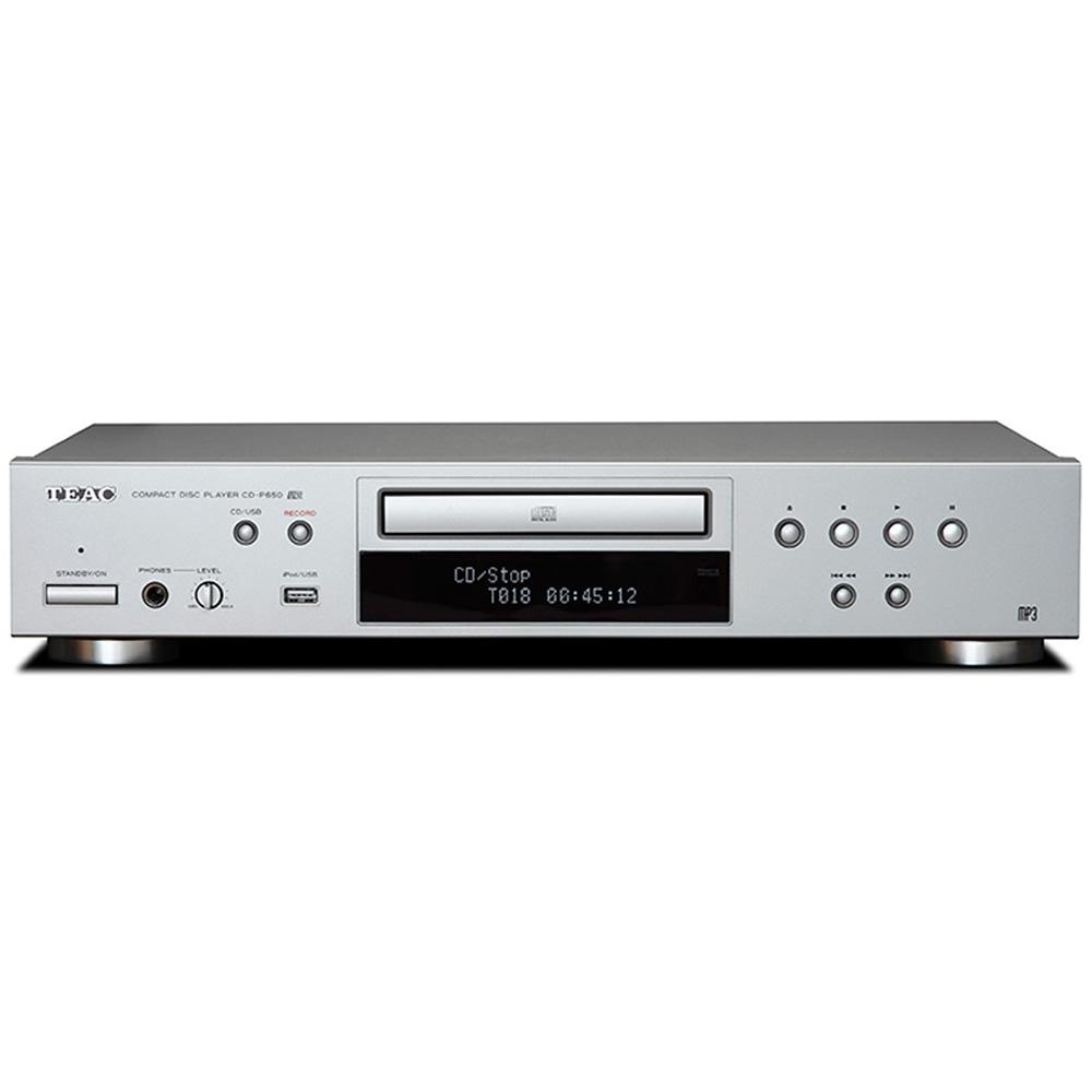 CDプレーヤー iPod対応 TEAC ティアック USBメモリ対応 CD - MP3録音機能 RCA/光デジタル出力端子 リモコン付 シルバー CD-P650-R/S ◆宅