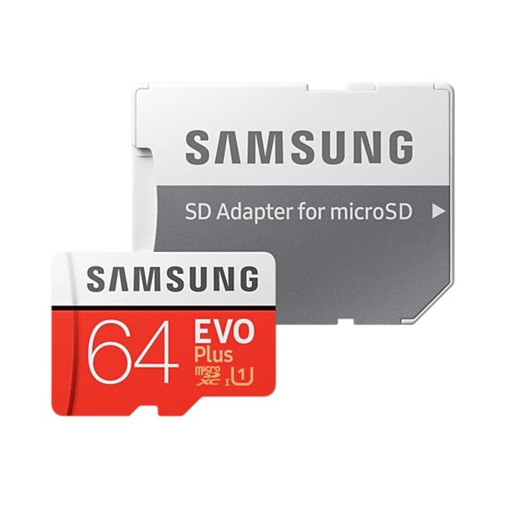 全商品配送無料 平日13時までの決済完了分は即日出荷 メール便は追跡番号付きで安心 配達スピードも速くなりました 64GB 大注目 高級品 microSDXCカード マイクロSD Samsung サムスン EVO Plus メ Class10 SDアダプタ付 s MB-MC64HA W:20MB APC R:100MB 海外リテール UHS-I