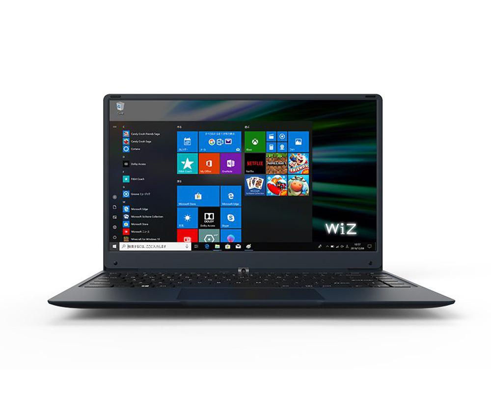 Windows10Pro搭載ノートPC SIMフリー(LTE) 14.1型 WiZ Note KEIAN 恵安 Intel製クアッドコアCPU RAM4GB eMMC32GB MicroSIM対応 無線LAN Bluetooth4.0 ダークネイビー KIC14LTE ◆宅