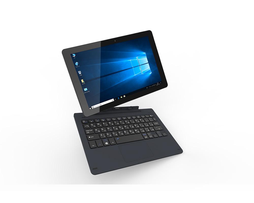 10インチ Windowsタブレット 専用キーボード付 KEIAN 恵安 Win10 Home 64bit搭載 インテル製クアッドコアCPU ストレージ32GB RAM4GB 無線LAN ダークネイビー KIC102HD-DN ◆宅