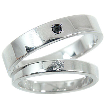 ペアリング プラチナリング ダイヤ ダイヤモンド ブラックダイヤモンド 結婚指輪 マリッジリング 0.03ct 結婚記念リング 2本セット【コンビニ受取対応商品】 指輪 大きいサイズ対応 送料無料