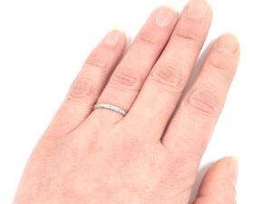 []ペアリング ダイヤモンドエタニティリング 2本セット ダイヤモンドリング 結婚指輪 マリッジリング ホワイトゴールドk18 指輪 甲丸18k 18金【楽ギフ_包装】【コンビニ受取対応商品】