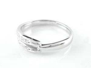 []結婚指輪 マリッジリング ペアリング ホワイトゴールドk18 2本セット ダイヤ ダイヤモンド18k 18金【楽ギフ_包装】【コンビニ受取対応商品】