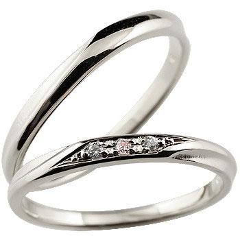 結婚指輪 マリッジリング プラチナ ピンクダイヤモンド つや消し ウェディングリング 結婚記念 ペアリング ダイヤモンドポイント加工 ダイヤポイント あらし アンティーク加工 pt900 ハンドメイド 2本セット 指輪 大きいサイズ対応 送料無料