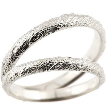 [送料無料]結婚指輪 マリッジリング ペアリング ホワイトゴールドk18 k18wg ハンドメイド 18金 2.5ミリ幅 ブライダルジュエリー 2本セット アンティーク【コンビニ受取対応商品】