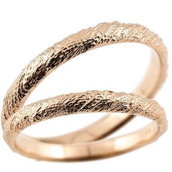 [送料無料]結婚指輪 マリッジリング ペアリング ピンクゴールドk18 ハンドメイド 18金 2.5ミリ幅 ブライダルジュエリー 2本セット アンティーク【コンビニ受取対応商品】