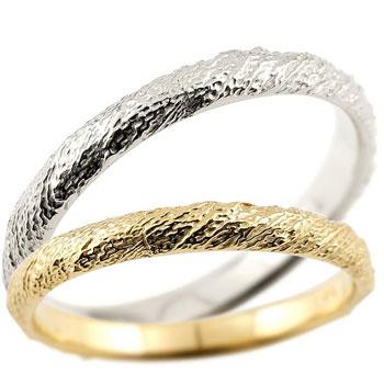 結婚指輪 マリッジリング ペアリング プラチナ900 pt900 イエローゴールドk18 ハンドメイド 18金 2.5ミリ幅 ブライダルジュエリー 2本セット アンティーク【コンビニ受取対応商品】 指輪 大きいサイズ対応 送料無料