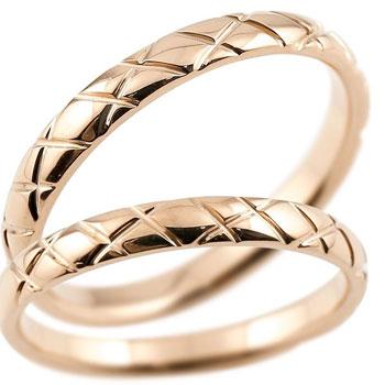結婚指輪 マリッジリング ペアリング ピンクゴールドk18 18金 2.5ミリ幅 ブライダルジュエリー 2本セット アンティーク【コンビニ受取対応商品】 指輪 大きいサイズ対応 送料無料