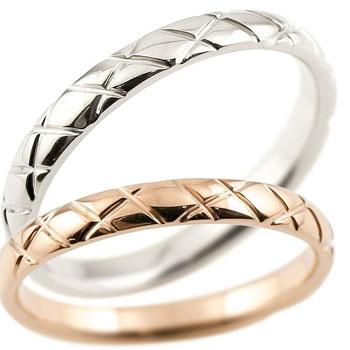 ペアリング 結婚指輪 マリッジリング プラチナ pt900 ピンクゴールドk18 18金 ハンドメイド 2.5ミリ幅 ブライダルジュエリー 2本セット アンティーク【コンビニ受取対応商品】 指輪 大きいサイズ対応 送料無料