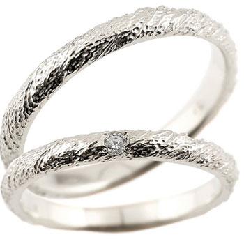 ペアリング 結婚指輪 マリッジリング プラチナ ダイヤモンド 一粒ダイヤ ハンドメイド pt900 2.5ミリ幅 ブライダルジュエリー 2本セット【コンビニ受取対応商品】 指輪 大きいサイズ対応 送料無料