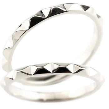 ペアリング 結婚指輪 マリッジリング プラチナ トライアングル デザイン 三角形 ハンドメイド pt900 ブライダルリング ウェディングリング 宝石なし 地金リング ブライダルジュエリー 2本セット【コンビニ受取対応商品】 指輪 送料無料