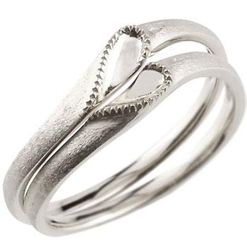結婚指輪 マリッジリング ペアリング ホワイトゴールドk18 18金 18k シンプル つや消し ハート 合わせるとハート ウェディングリング ブライダルリング ウェディングバンド 結婚記念 結婚式【コンビニ受取対応商品】 指輪 送料無料