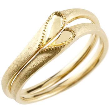 結婚指輪 マリッジリング ペアリング イエローゴールドk18 18金 18k シンプル つや消し ハート 合わせるとハート ウェディングリング ブライダルリング ウェディングバンド 結婚記念 結婚式【コンビニ受取対応商品】 指輪 送料無料