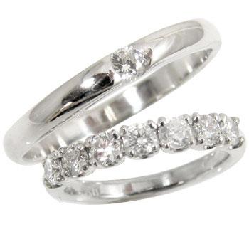 ペアリング エタニティリング ダイヤモンドリング 結婚指輪 マリッジリング ホワイトゴールドk18 指輪 2本セット18k 18金【コンビニ受取対応商品】 指輪 大きいサイズ対応 送料無料