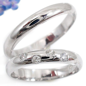ペアリング 結婚指輪 マリッジリング プラチナ900ダイヤ ダイヤモン 2本セット【コンビニ受取対応商品】 指輪 大きいサイズ対応 送料無料