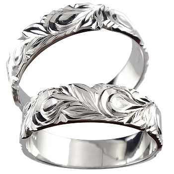 結婚指輪 ハワイアンペアリング 幅広 指輪 プラチナ900 PT900 結婚記念リング ハワジュ hawaiiブライダルジュエリー 【コンビニ受取対応商品】 指輪 大きいサイズ対応 送料無料