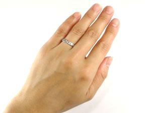 []ハワイアンペアリング プラチナリング 結婚指輪 PT900 ダイヤモンド 一粒ダイヤモンド 結婚記念リング ブライダルリング ウェディングリング 結婚式 結婚記念 ブライダルジュエリー ハワイアンジュエリー 2本セット【楽ギフ_包装】