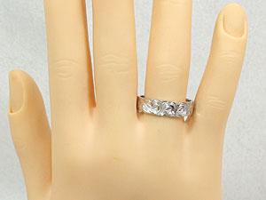 結婚指輪ハワイアンペアリングホワイトゴールドk18k18wg結婚記念リング