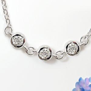 [送料無料]ダイヤモンド ブレスレット ダイヤモンド 0.15ct ホワイトゴールドK18【コンビニ受取対応商品】