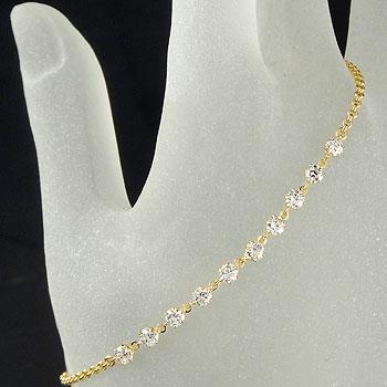 [送料無料]ダイヤモンド イエローゴールドk18 ブレスレット ダイヤモンドブレスレット18k 18金【コンビニ受取対応商品】